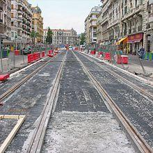 NICE Tramway : les aménagements urbains calendrier