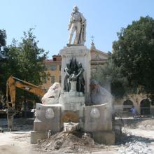 Début des travaux de déplacement de la statue de Garibaldi Nice-news-3052