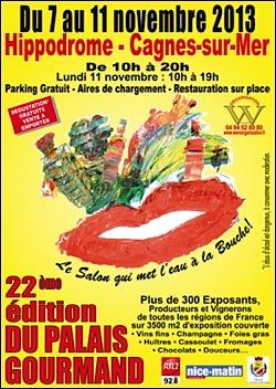 Cagnes sur mer le salon du palais gourmand 2013 l hippodrome de la c te d azur - Salon gastronomique cagnes sur mer ...