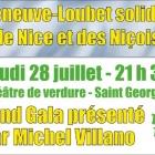 Villeneuve Loubet, Gala de solidarité pour les victimes de Nice présenté par Michel Villano
