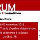 Forum installation-transmission en Agriculture au CREAT à La Gaude
