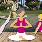 Nice SOS Cancer du Sein Un Yoga « Rose » Géant au Jardin Albert 1er